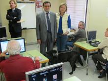 Foto de la visita al Punt TIC de Democràcia, Lleida