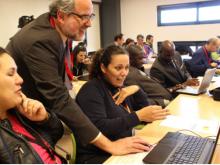 Ricard Faura al taller sobre l'ACTIC al Fuerteventura Meeting Point