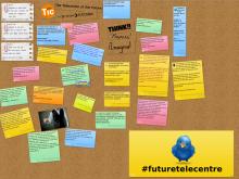Mural per compartir idees de com serà el telecentre del futur