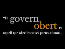 Fotograma del vídeo sobre govern obert de la XIP