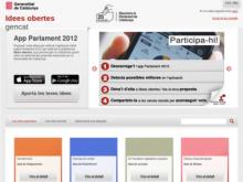 Idees Obertes Gencat busca idees per millorar l'app Parlament 2012