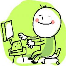 Treballant davant l'ordinador