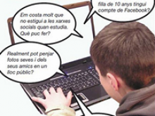 Cartell de la xerrada-col·loqui seguretat a Internet dels menors, a Sant Feliu