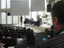 Fotografia de la sala, a la Jornada de dinamització de la Internet social 2011
