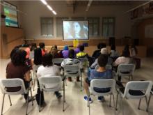 Projecció sobre el projecte Erasmus a la I Jornada Europea de la Joventut de la Garrotxa