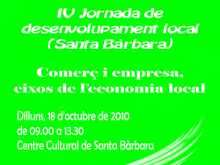 Part del cartell de la IV Jornada de desenvolupament local de Santa Bàrbara
