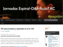 Captura de la plana web de les Jornades Espiral-DIM-Aula TAC