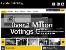 Captura de la portada del web de La Isla Radioblog