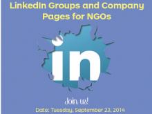 """Part del cartell de la webinar """"Grups de LinkedIn i pàgines d'empresa per a les ONG"""""""