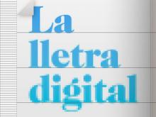 Part del tríptic de la jornada La lletra digital