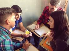 Un grup de joves a la convocatòria de Making More Health de 2014