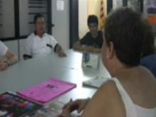 """Imatge dels participants al documental """"Entre cultures"""" de lÒmnia La Balconada de Manresa"""