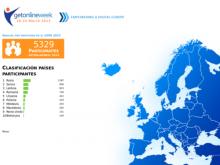 Mapa de participants de Get Online Week 2013