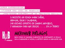 Cartell per donar a conèixer el microHUB Piélagos