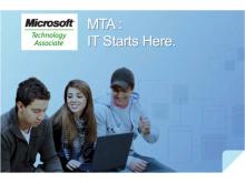 Imatge publicitària del certificat Microsoft Technology Associate
