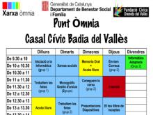 Part del pograma de l'Òmnia de Badia del Vallès