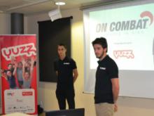 Els guanyadors de Yuzz Sant Feliu: Eduard Morales i Eric Sicart amb el projecte On Combat