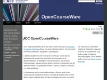 Captura de la plana web UOC OpenCourseWare