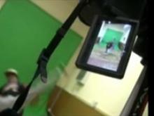 Imatge del rodatge d'un videoclip al punt TIC-Òmnia Palafrugell