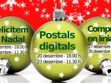 Postals de Nadal - Part del cartell de tallers TIC de Nadal