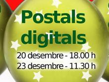 Postals digitals - Part del cartell de tallers TIC de Nadal