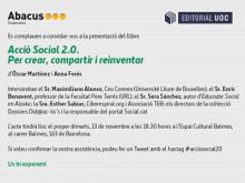 """Invitació a la presentació del llibre """"Acció Social 2.0. Per crear, compartir i reinventar"""""""