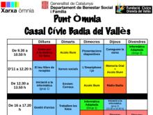 Part del cartell de la programació de l'Òmnia Badia per al 2014