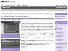 Captura del recurs sobre Netvibes de xarxanet.org