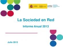 "Portada de la presentació de l'informe ""Sociedad en red 2012"""