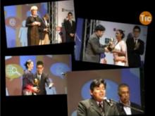 Diferents moments de l'acte de lliurament dels Premis Telecentre a l'Spark 2013