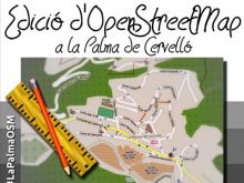 Part del cartell del taller d'OpenStreetMap a la Palma de Cervelló