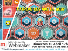 Cartell del taller de webmakers