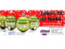 Cartell de tallers TIC de Nadal d'elCanal