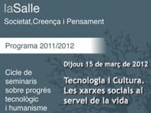 Cartell de la xerrada Tecnologia i Cultura