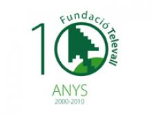 Logo 10è aniversari de la Fundació Televall