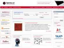 Captura de la plana web de Termcat