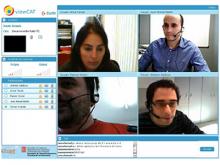 Imatge d'una videoconferència múltiple