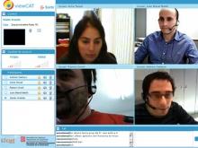 Imatge de la multivideoconferència entre punts del 26/11/2010