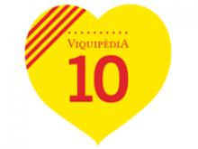 Lgo de la festa dels 10 anys de la Viquipèdia
