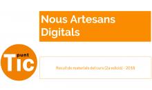 Portada del recull del material de la 2a edició del curs 'Nous Artesans Digitals'