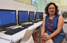 Paloma Valdivia, responsable Punt TIC de Palau-solità i Plegamans