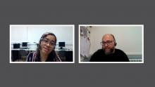 Parlem sobre programari lliure amb Lady Pazmiño de l'Òmnia Colectic i en David Picó de l'Òmnia PES La Mina.