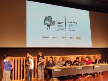 Lliurament de premis de l'edició 2018 del PLum Fest el 3 de maig al CCCB