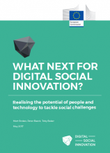 "Cover page of the report ""What next for digital social innovation?"""