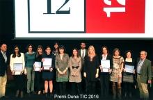 Lliurament de premis del Premi Dona TIC 2016, al 12x12 Congress