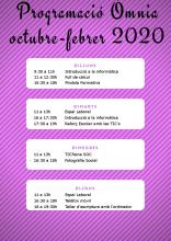 Cartell de la programació de tardor a l'Òmnia CPS Francesc Palau