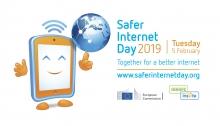 Cartell en anglès del Safer Internet Day 2019