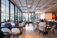 La Sirena turns into a coworking space during the day