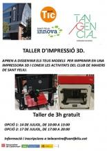 Taller d'impressió 3D, a Sant Feliu de Llobregat