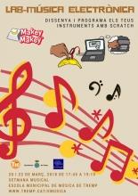 Cartell del taller de música electrònica a Tremp